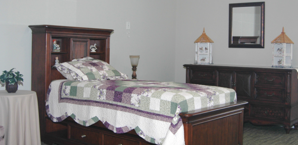 Furnished Assisted Living Suite at Sunnybrook Assisted Living in Hendersonville NC